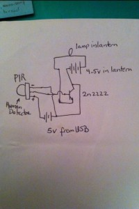 PIR project schematic