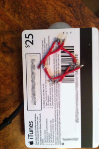 Gift card circuit board bottom