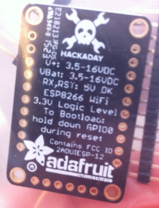 Hackaday Huzzah by Adafruit
