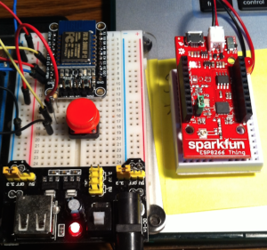 Two ESP8266 devices playing well together
